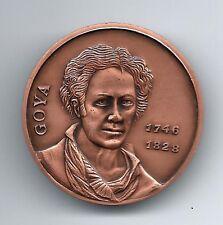 Art Spanish Painter Francisco Goya Visca Catalunya Copper Medal! M43