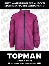 jacket waterproof nice ruby colour XXL winter rain windcheater stolite explorer