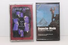 Depeche Mode Cassette Lot Construction Time Again - Songs Of Faith And Devotion