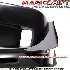 99-00 Honda Civic EK FRONT BUMPER BLACK ALUMINUM CANARDS SPLITTER DIFFUSER WING
