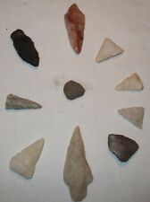 Ancient Arrow Heads From the Tennessee/Kentucky Area. Size  From 1/2 to 11/2