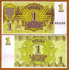 Latvia, 1 Rublis, 1992, Pick 35, UNC > First Ex-USSR > pre-Euro