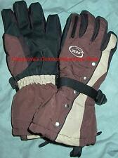 SNOWBOARD GLOVES ZERO STUD MUFFIN MEN'S SMALL BROWN STUDDED WATERPROOF, NEW!