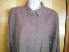NEW NWT womens brown rust khaki CHRISTOPHER BANKS shirt blouse size M