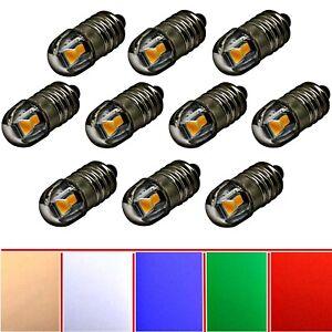 2X 10X 6V 12V E10 Screw Mount LED Replacement Lighting Moravian Star Warm White