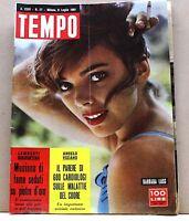 TEMPO - ANNO XXIII N.57 - 8 LUGLIO 1961 - rivista, barbara lass, malattie cuore