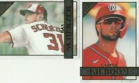 2020 Topps Gallery Carter Kieboom Max Scherzer Washington Nationals