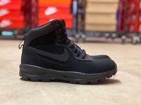 Nike Manoadome Mens Hiking Trail Work Boots Triple Black 844358-003 NEW Multi Sz
