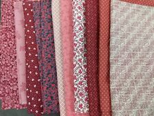 Pink Quilt Cotton Lot 10+ Yards Floral Print Sewing Fabric Material 3lb Cottage