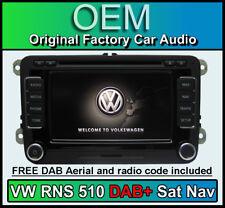 VW RNS 510 DAB Sat Nav stereo, VW EOS DAB+ radio CD player, Navigation HDD LED