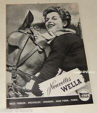 Revue 1954 Nouvelles WELLA N°8 - Produits & Accessoires pour les cheveux Vintage