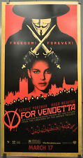 "V FOR VENDETTA 2005 ORIG 26X50 ""KIOSK"" MOVIE POSTER HUGO WEAVING NATALIE PORTMAN"