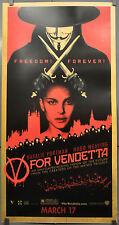 """V FOR VENDETTA 2005 ORIG 26X50 """"KIOSK"""" MOVIE POSTER HUGO WEAVING NATALIE PORTMAN"""