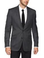 Kenneth Cole Mens Blazer Gray Size 48 Big & Tall Two Button Slim Fit $255 137