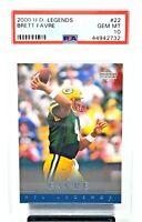 2000 Upper Deck Packers Legends BRETT FAVRE Football Card PSA 10 GEM MINT Pop 5