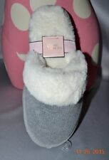 Victorias Secret Super Soft Faux Fur Knit Slippers Cozy Warm NWT L 9 - 10