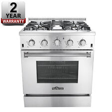 "Gas Range 30"" Thor Kitchen HRG3080U Professional Stainless Steel 4-Burner New"