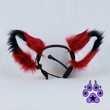 PAWSTAR NECOMIMI Ear SLEEVES ONLY - Animal Ears Covers  FOX Dark Red [DR]3092