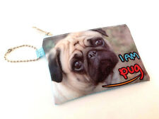 Wholesale 6 pug coin bag purse wallet card case bulk lot new kids teens present