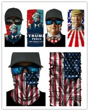 3pcs Motorcycle Bike Rider Balaclava Scarf Trump USA Flag Neck Gaiter Face Cover