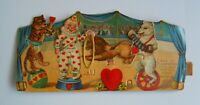 Vintage Antique Valentine's Day Die-Cut Big Top Tent Circus Valentine Card Gift