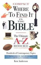 WHERE TO FIND IT IN THE BIBLE-COMPACT-SUPERSAVER (A to Z Series)