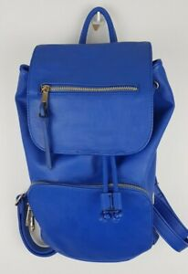 """ALDO Faux Leather PU Backpack Blue Lining Polyester 12""""Width 14""""Height 5""""Depth"""