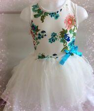 New Girls Floral Tulle Tutu Dress Age 2-3 Years UK Seller-Girls-Kids Clothing