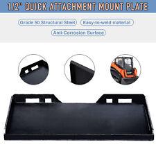 "1/2"" Quick Attachment Mount Plate Kubota Bobcat Skidsteer Grade 50 Steel New"