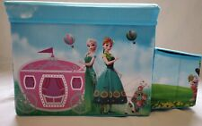 Kids girl storage boxes Ottoman car Elsa Anna