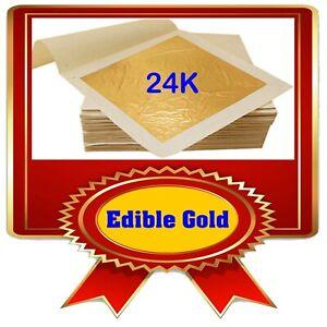 Real Edible Gold Leaf Multi Pack - 10x 4.33 cm x 4.33 cm