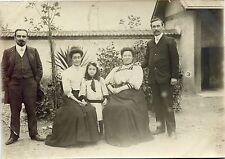 photo ancienne . famille de Champagne-sur-Seine . 1908