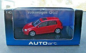 Autoart 59776 Volkswagen VW Golf Mk.V 2003 1:43 in Tornado Red