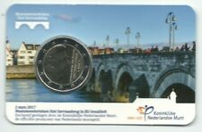 Coincard 2 euro 2017 nieuw muntmeesterteken Sint Servaasbrug BU uitverkocht KNM