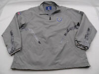 Reebok Nfl Onfield Indianapolis Colts ¼ Zip Pullover Grays Mens XL Polyester