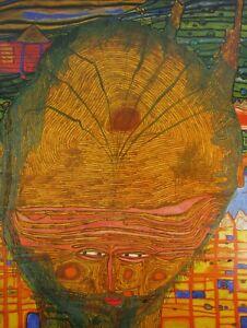 The Beard Is The Grass Bald Headed Man Friedensreich Hundertwasser 1961