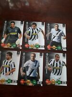 Panini Champions League Super Strikes 2009/10 Juventus Base Cards X 6