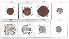 MONGOLIA - VERY RARE 8 DIF COINS SET: 1 MONGO - 1 TOGROG 1925 YEAR KM#1-8
