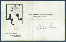 Christopher Stone, 1930s British Broadcaster. Attractive Autograph Note