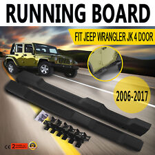 Moda SIDE Step Pedana adatto per JEEP WRANGLER JK 06-17 4 PORTE NERO NERF BAR CE