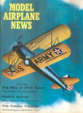 MODEL AIRPLANE NEWS MAY 1960 WW1 RICHTHOFEN FOKKER / WYLAM STRAIGHT WING STINSON