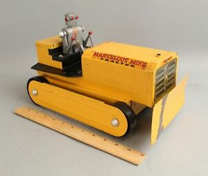 Authentic 1950s Saunders Marvelous Mike Robot Space Tractor Bulldozer Toy NR