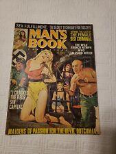 Man's Book Magazine 1968 Aug, Nazi, torture, GGA, pulp, men's adventure