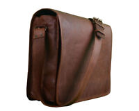 Laptoptasche Messenger Ledertasche Retro Leder Damen Herren Vintage Bag Neu
