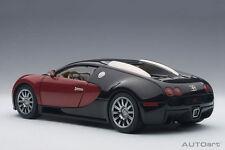 1/18 Autoart Bugatti Eb 16.4 Veyron Producción Car #001 Negro/Rojo