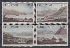 Färöer 1985 ** Mi.112/15 Gemälde Paintings Lanschaften Landscapes Berge Mountain