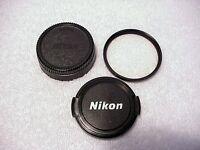 Nikon 52mm UV (L39) Filter + Nikon 52mm Front Cap + 52mm Rear Cap |  From USA |