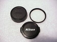 Nikon 52mm UV (L39) Filter + Nikon 52mm Front Cap + 52mm Rear Cap |  From USA |