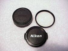 Nikon 52mm UV (L39) Filter + Nikon 52mm Front Cap + 52mm Rear Cap |  All | $25 |