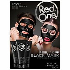 Boite de12 x Masque Anti Acné points noirs Black Mask Red One Charbon Soin